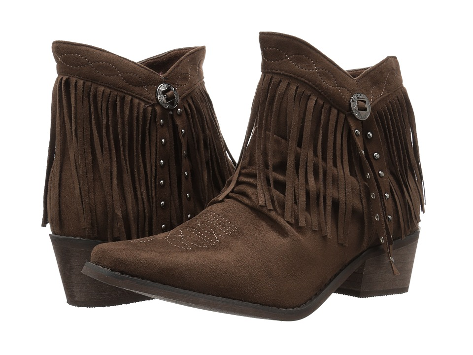 Roper Fringy (Faux Brown Leather) Women