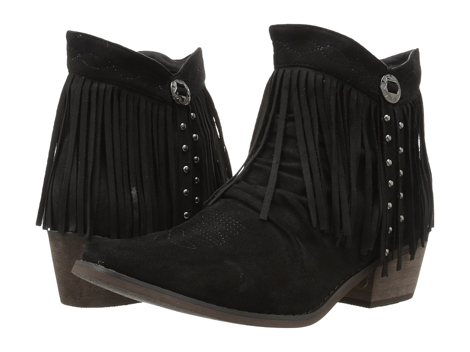 Roper Fringy (Faux Black Leather) Women