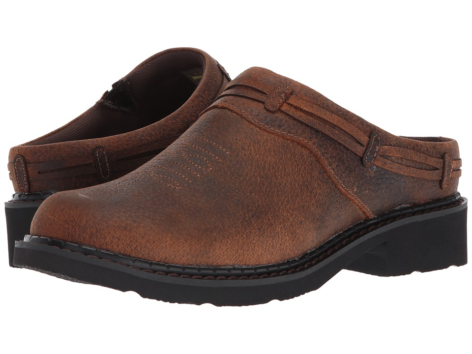 Roper Laces (Brown Crazy Horse Leather) Slip-On Shoes