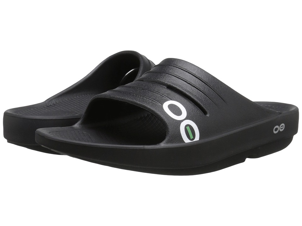 OOFOS - OOlala Sport Slide (Black/Black) Women's Sandals