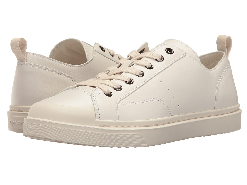 Retro Vintage Flats and Low Heel Shoes COACH C114 Leather Lo Top Sneaker White Mens Lace up casual Shoes $225.00 AT vintagedancer.com