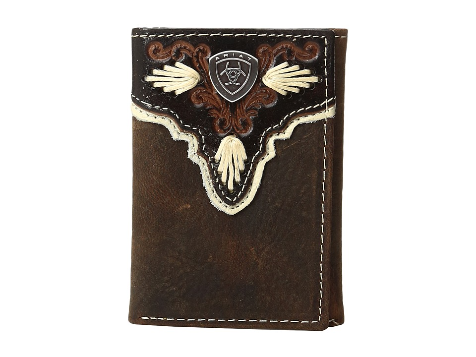 Ariat Ariat - Shield Ivory Trifold Wallet