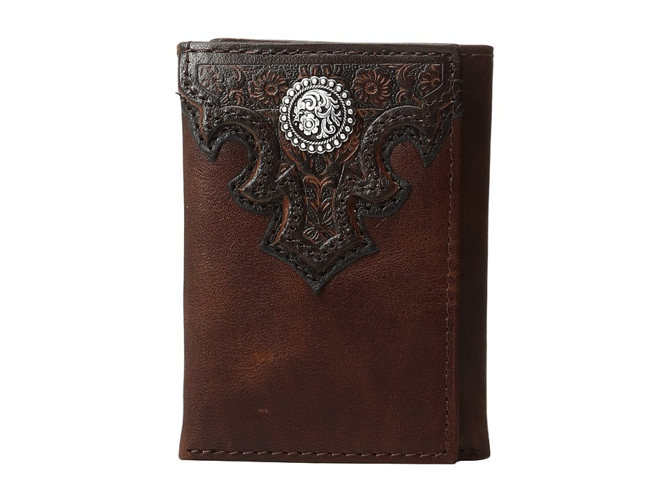 Ariat Ariat - Overlay Scroll Concho Croc Embossed Trifold Wallet