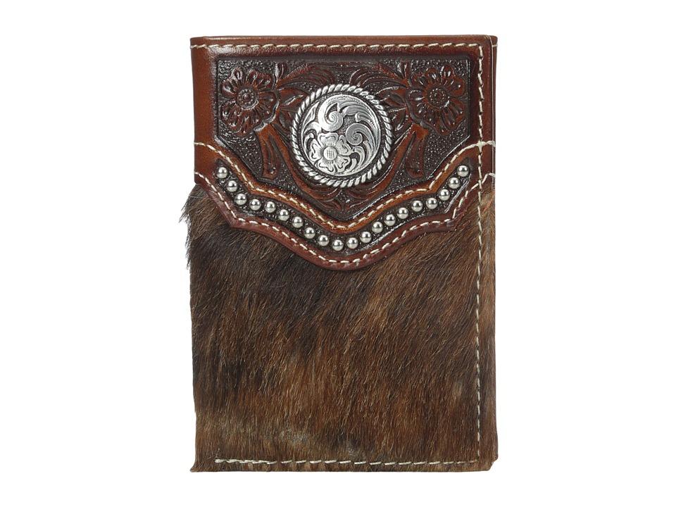 Ariat - Calf Hair Concho Trifold Wallet