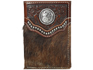 Ariat Calf Hair Concho Trifold Wallet