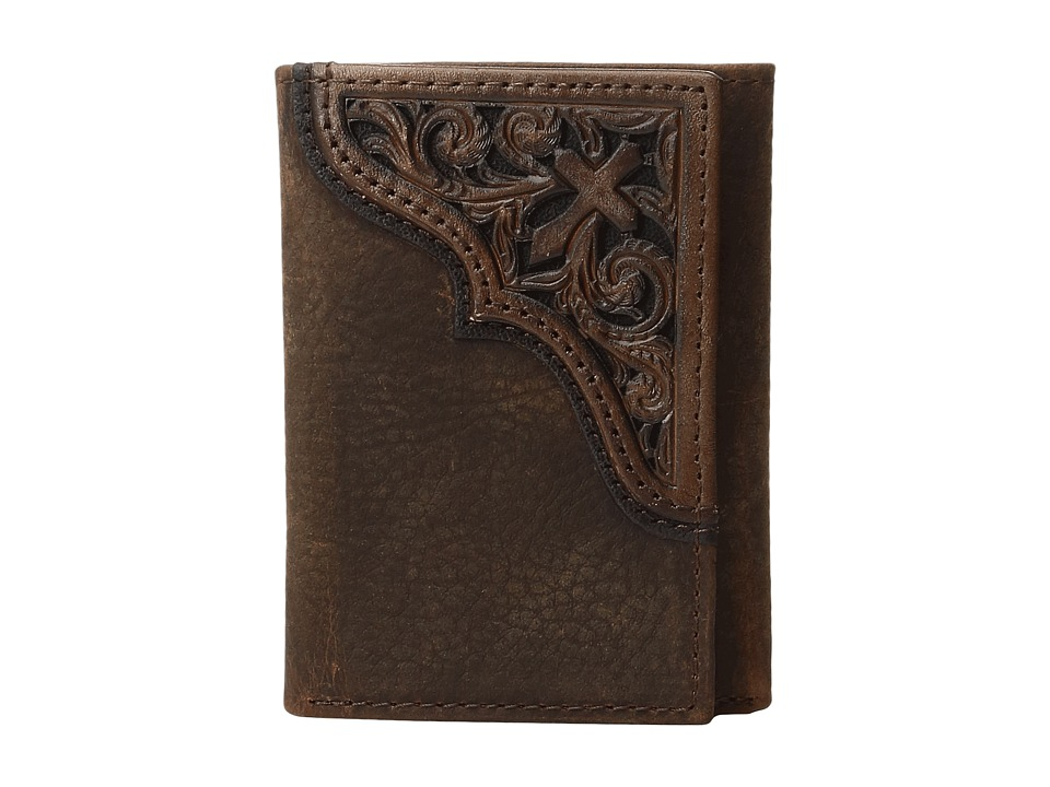 Ariat - Scroll Cross Corner Trifold Wallet