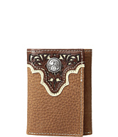 Ariat - Ivory Overlay Concho Trifold Wallet