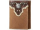 Ariat Ariat Ivory Overlay Concho Trifold Wallet