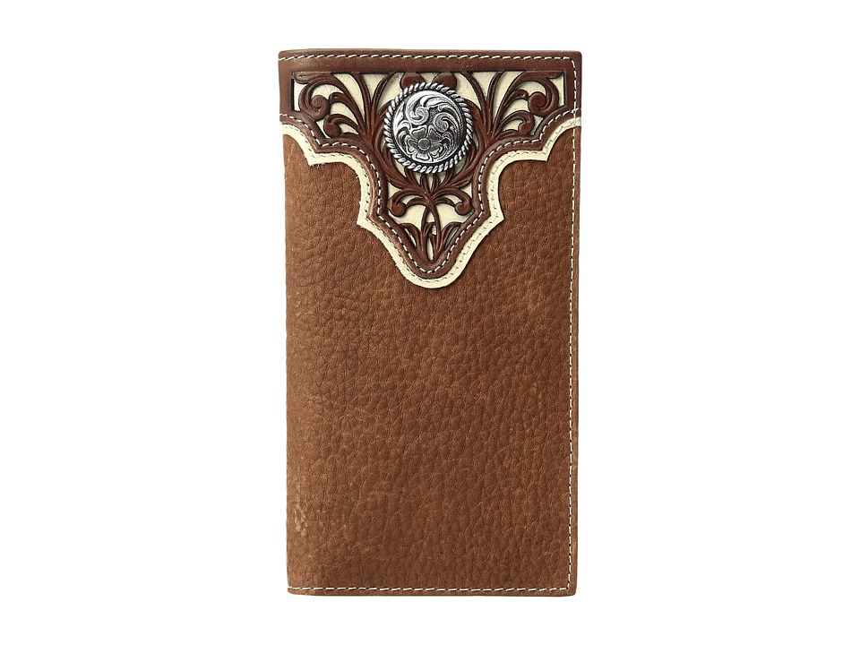 Ariat - Ivory Overlay Concho Rodeo Wallet