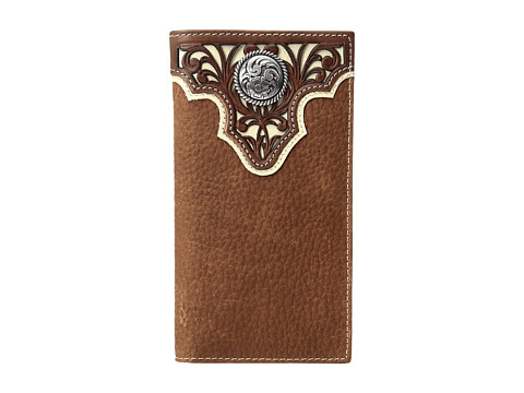 Ariat Ivory Overlay Concho Rodeo Wallet - Tan