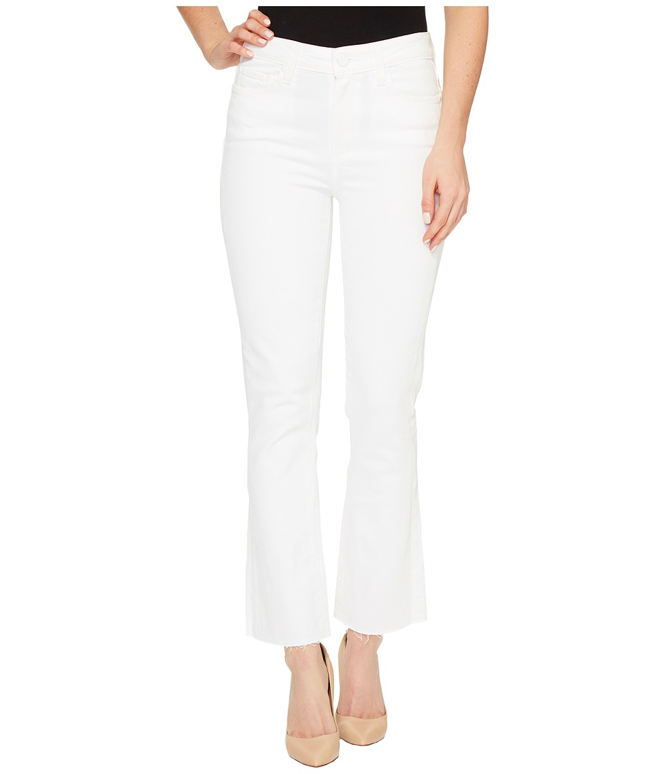 Paige Paige - Colette Crop Flare with Raw Hem in Optic White