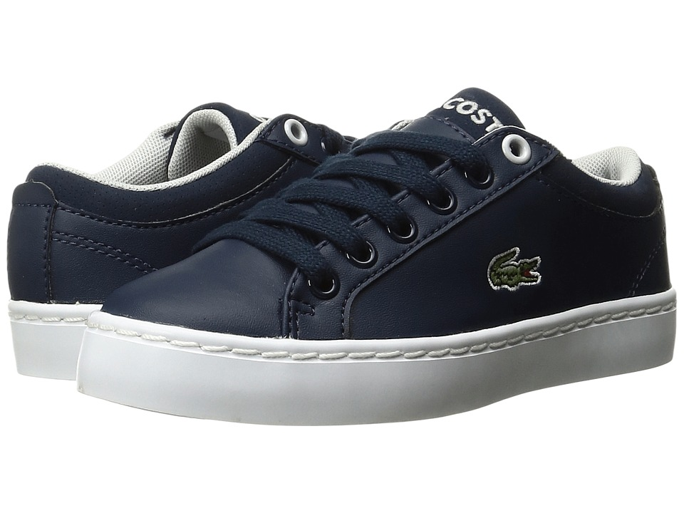 Lacoste Kids - Straightset (Little Kid) (Navy) Kids Shoes