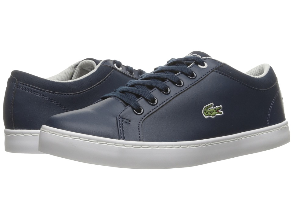 Lacoste Kids - Straightset (Little Kid/Big Kid) (Navy) Kids Shoes