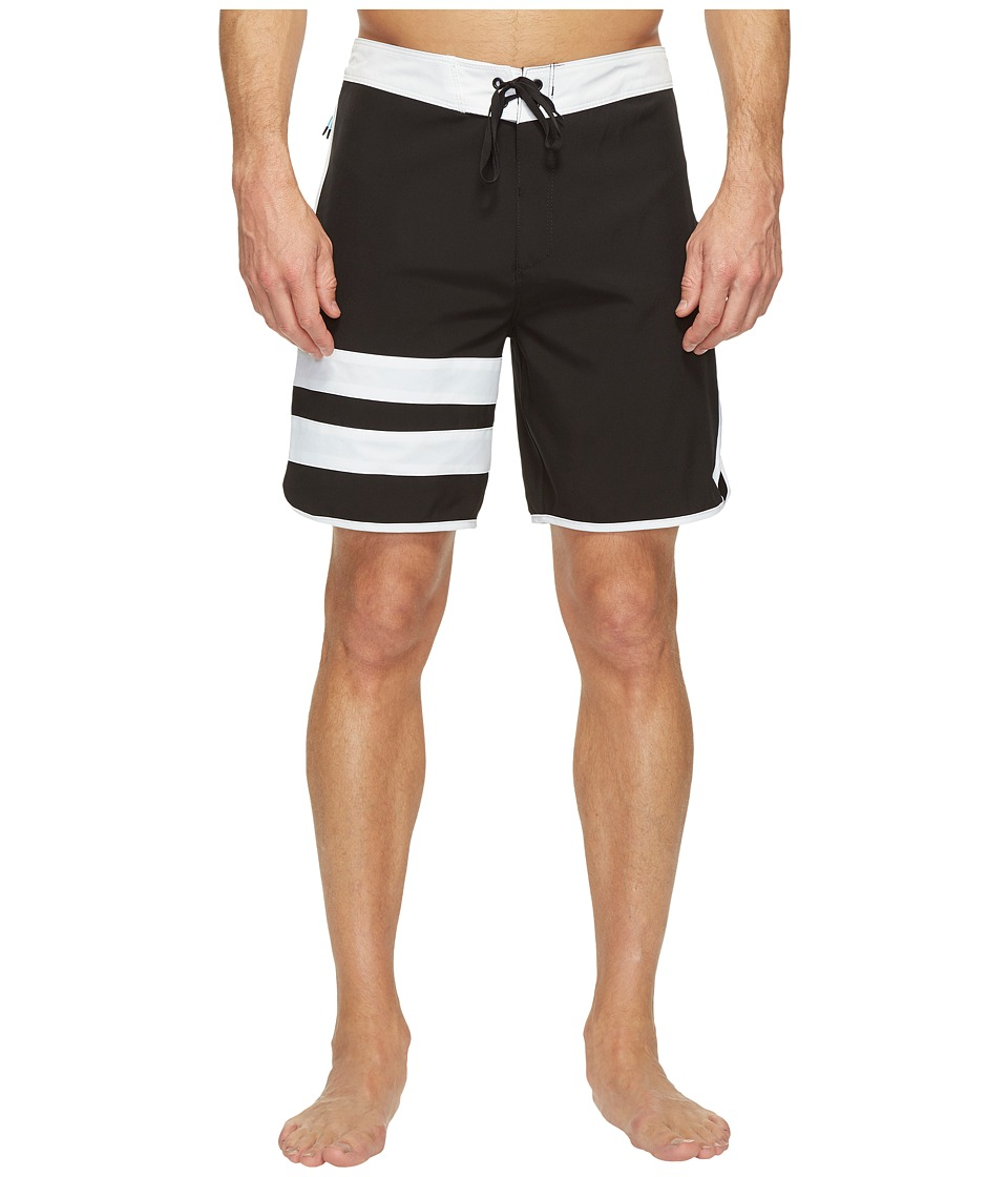 Hurley Phantom Block Party 2.0 18 Boardshorts (Black) Men