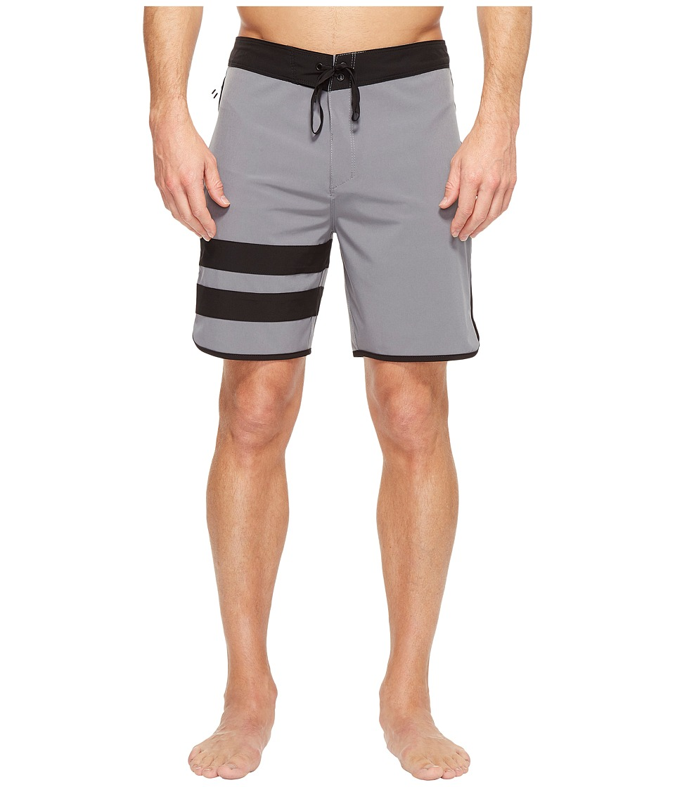 Hurley Phantom Block Party 2.0 18 Boardshorts (Cool Grey) Men