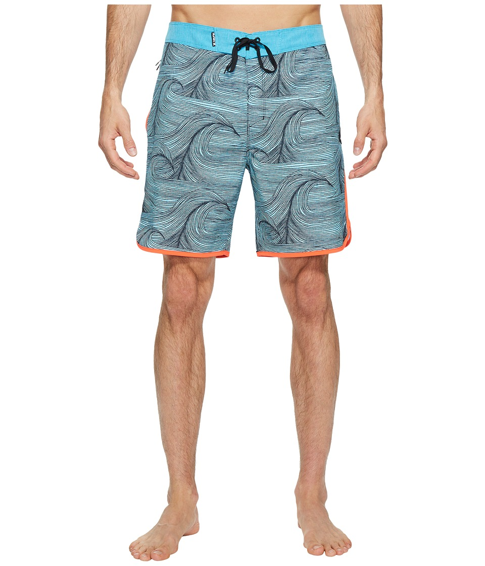 Hurley - Phantom Brooks 18 Boardshorts (Chlorine Blue) Mens Swimwear
