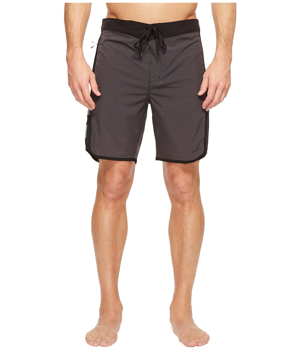Hurley Phantom Motion Stripe 19 Boardshorts (Black) Men