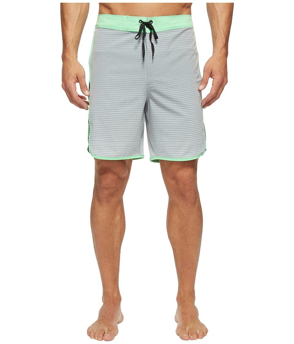 Hurley Phantom Motion Stripe 19 Boardshorts (Wolf Grey) Men