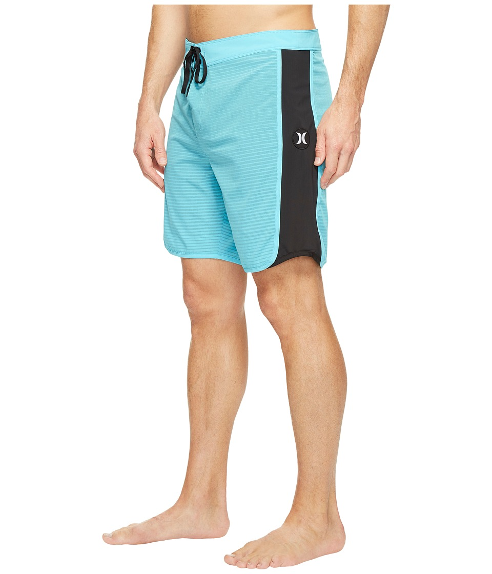 Hurley Phantom Motion Stripe 19 Boardshorts (Chlorine Blue) Men