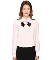 Kate Spade New York - Rosette Bow Silk Shirt