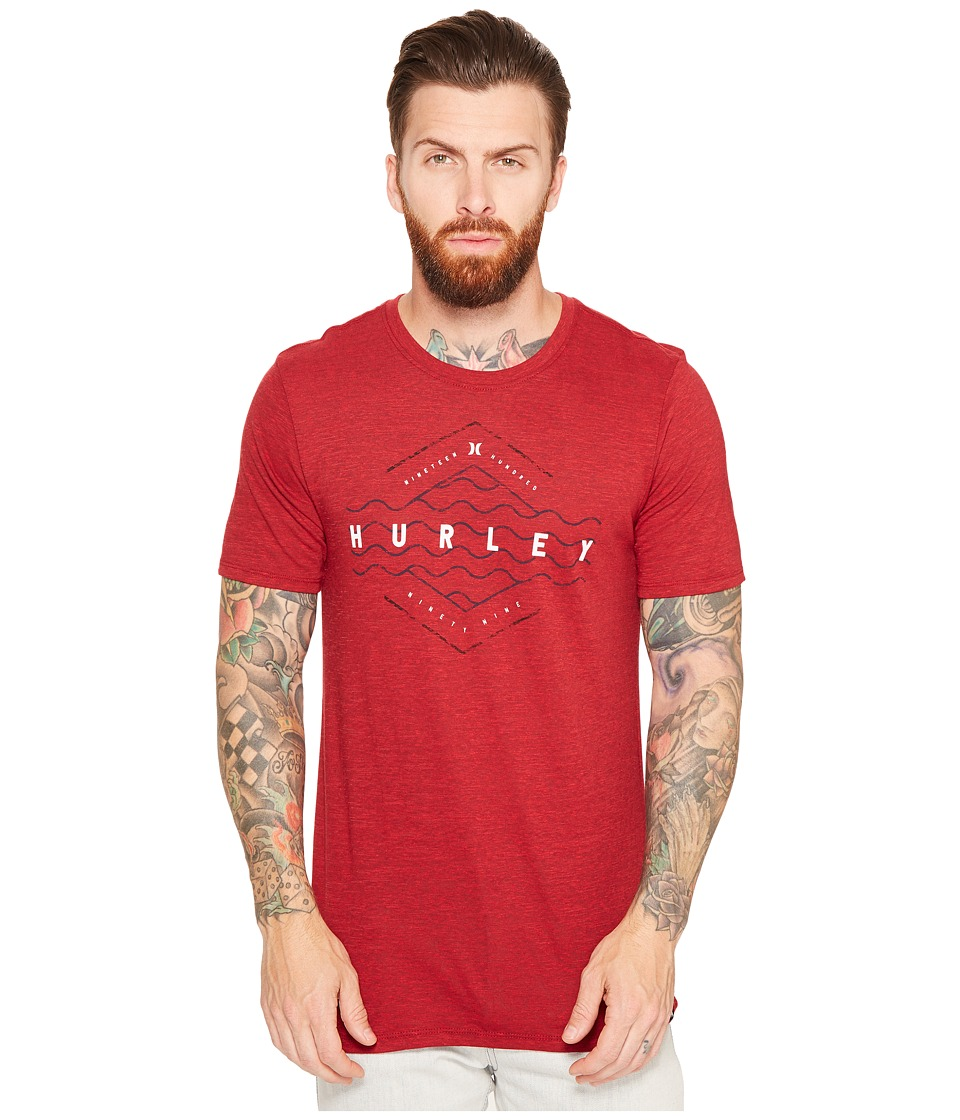 Hurley The Liner Tri-Blend Tee (Gym Red) Men