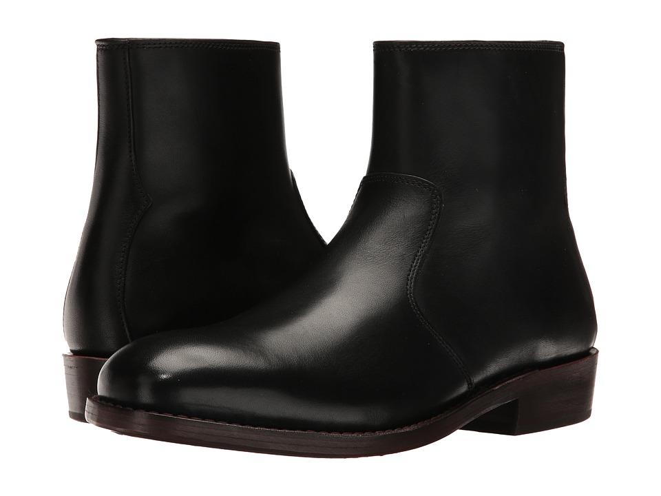 COACH - West Leather Zip Boot (Black) Mens Zip Boots