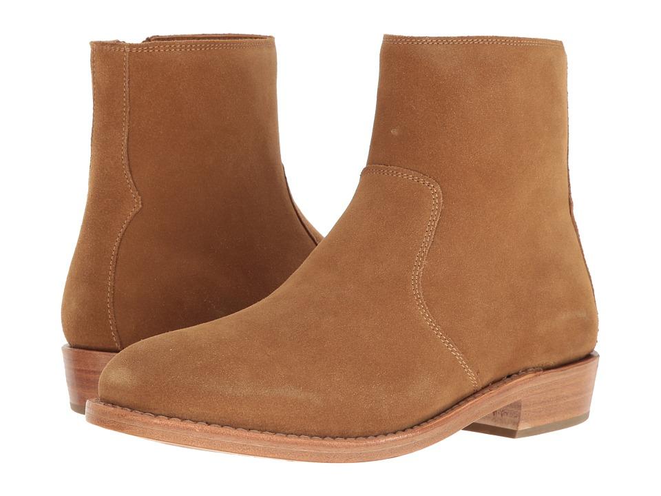 COACH - West Suede Zip Boot (Camel) Mens Zip Boots