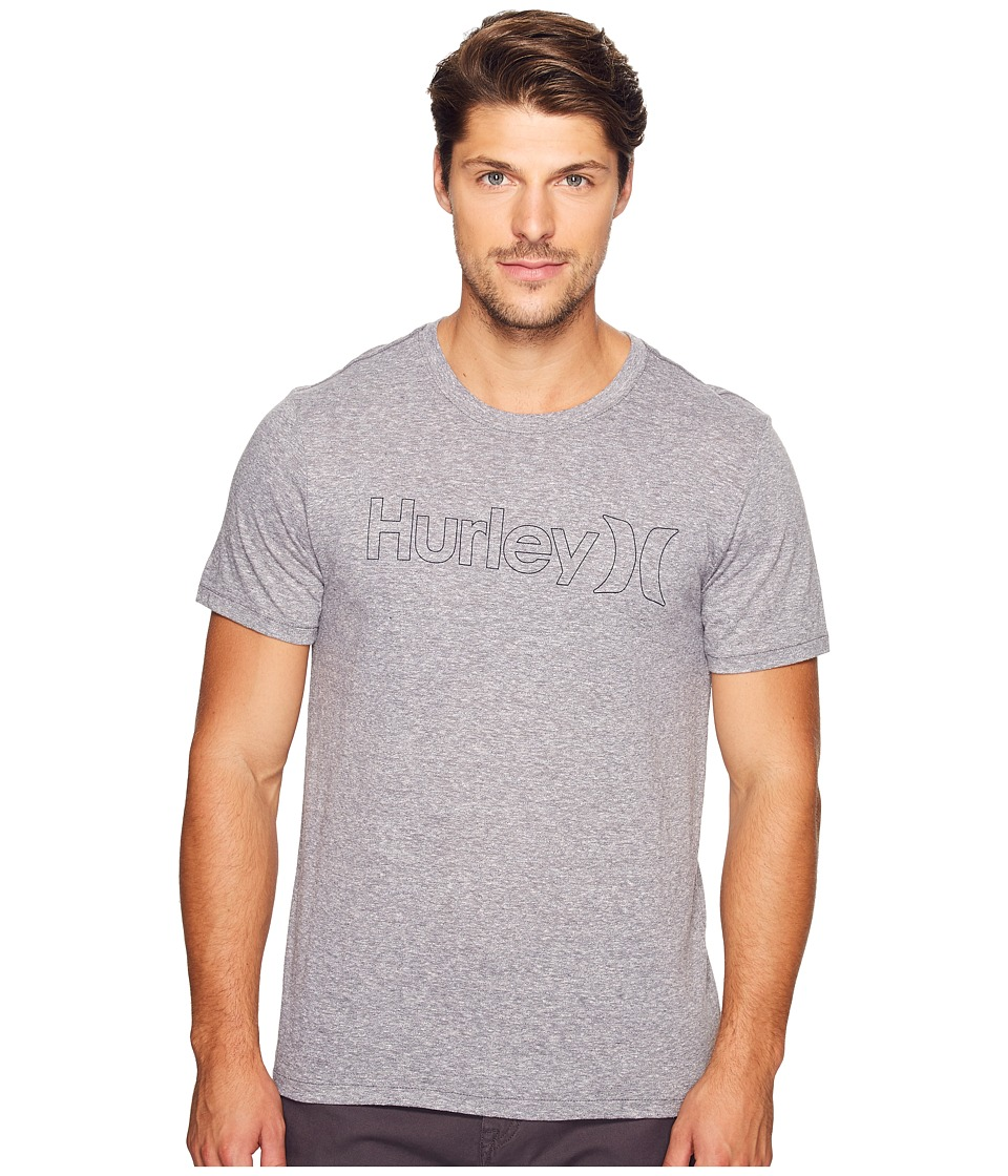 Hurley One Only Outline Tri-Blend Tee (Cool Grey) Men