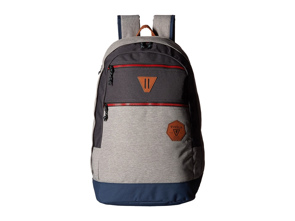 VISSLA Road Tripper Backpack with Laptop Sleeve (Grey Heather) Backpack Bags