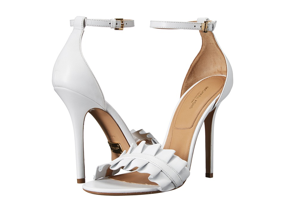Michael Kors Priscilla (Optic White Nappa) High Heels