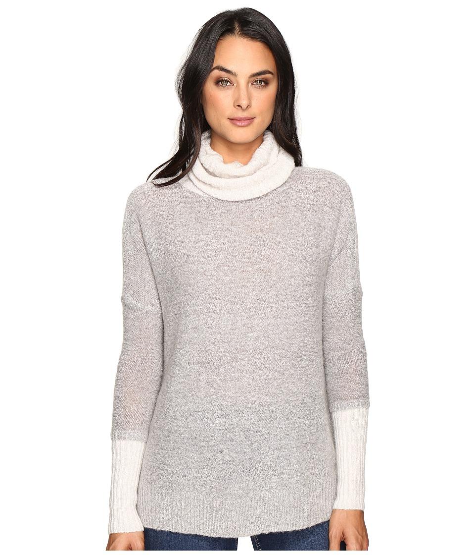 Three Dots Faux Double Sweater (Granite Combo) Women