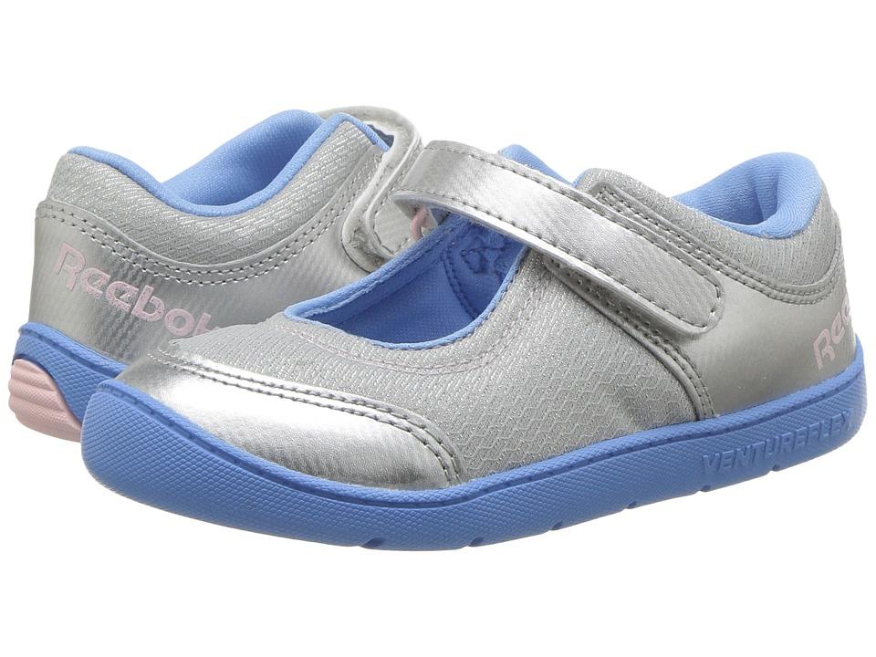 Reebok Kids Ventureflex Mary Jane II (Toddler) (Silver Metallic/Sky Blue/Luster Pink/White) Girls Shoes