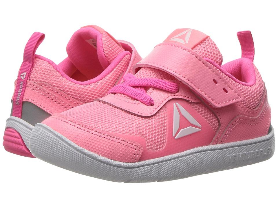 Reebok Kids Ventureflex Stride 5.0 (Toddler) (Peppy Pink/Solar Pink/White) Girls Shoes