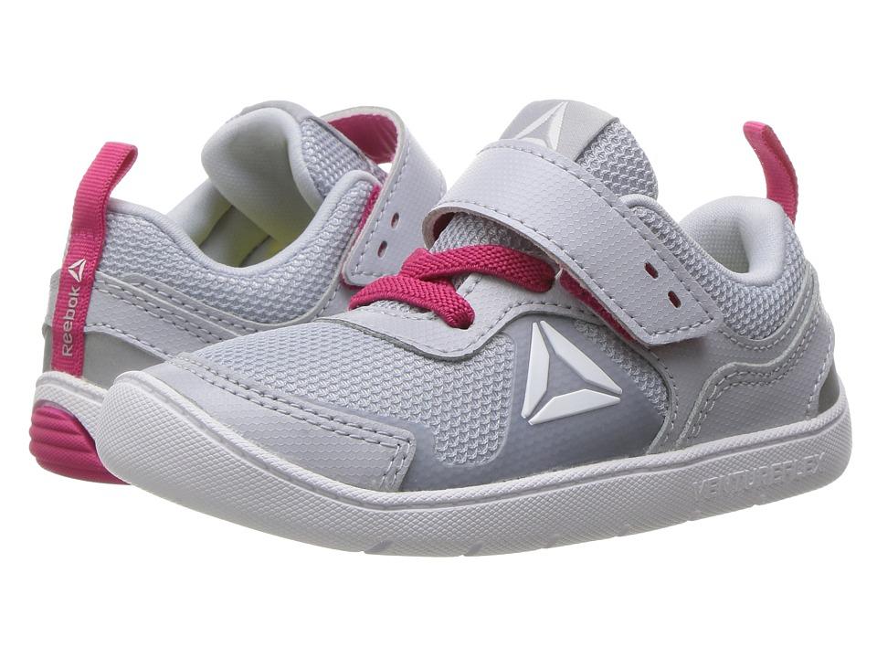 Reebok Kids Ventureflex Stride 5.0 (Toddler) (Cloud Grey/Pink Craze/White) Girls Shoes