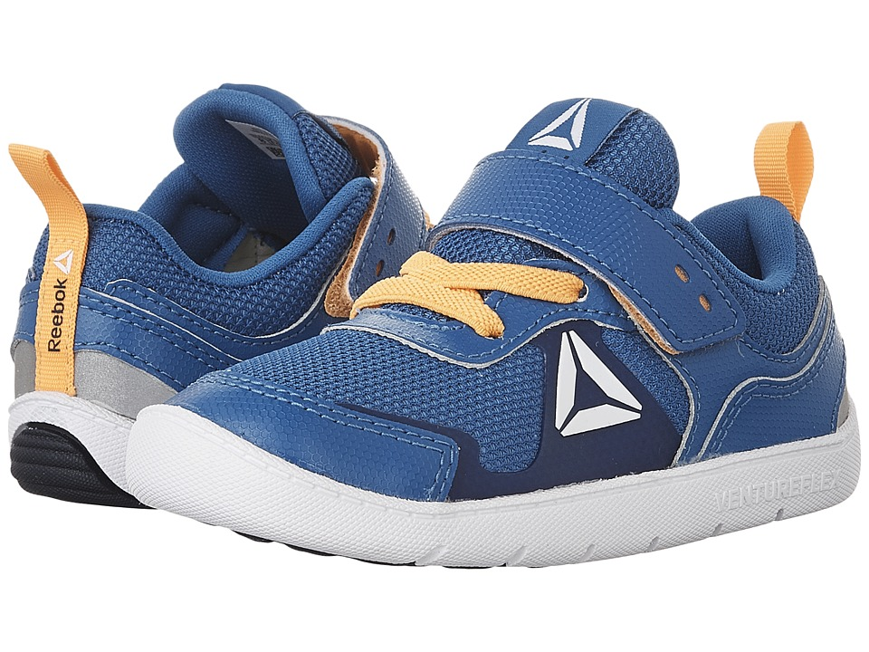Reebok Kids Ventureflex Stride 5.0 (Toddler) (Awesome Blue/Fire Spark/Collegiate Navy/White) Boys Shoes