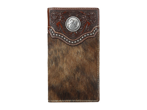 Ariat Calf Hair Concho Rodeo Wallet - Brown