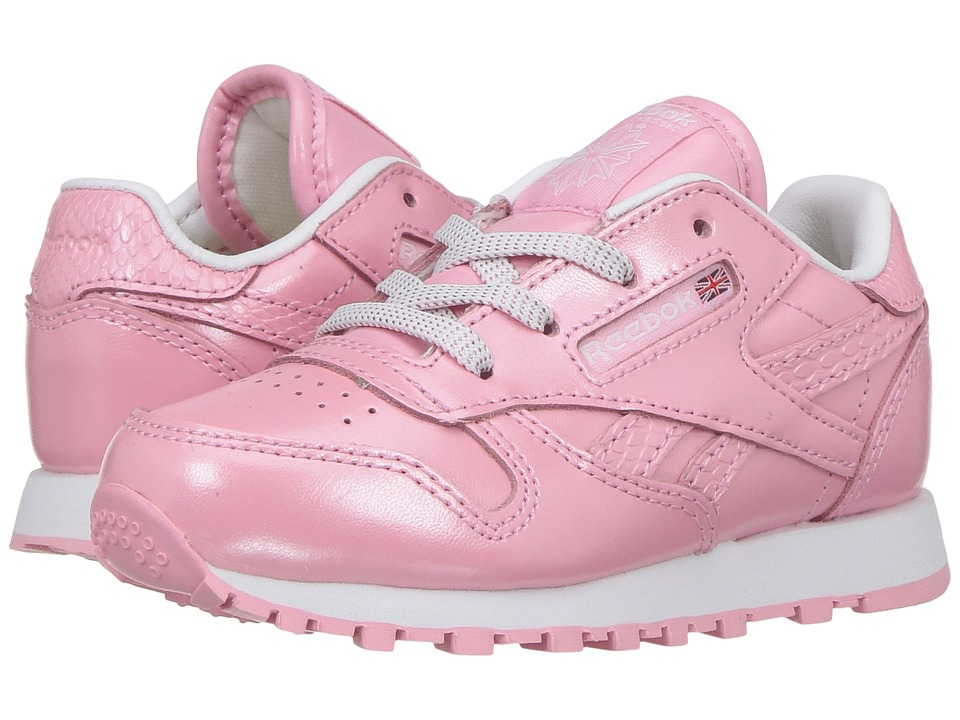 Reebok Kids Classic Leather Metallic (Toddler) (Light Pink/White) Girls Shoes