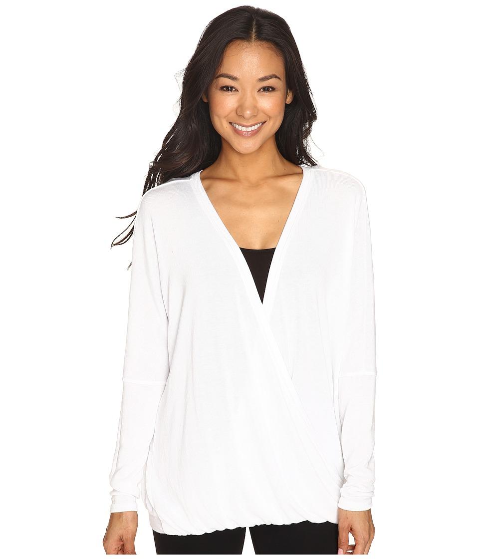 Hard Tail Long Sleeve Faux Sweater (White) Women