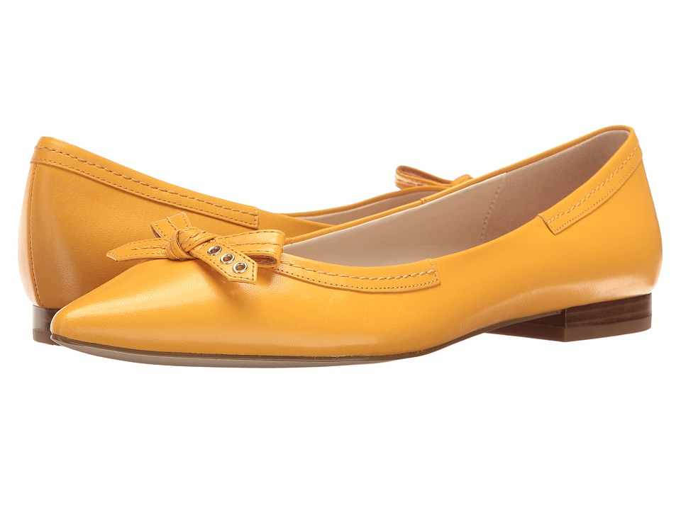 Cole Haan Alice Bow Skimmer (Sunglow Leather) Women