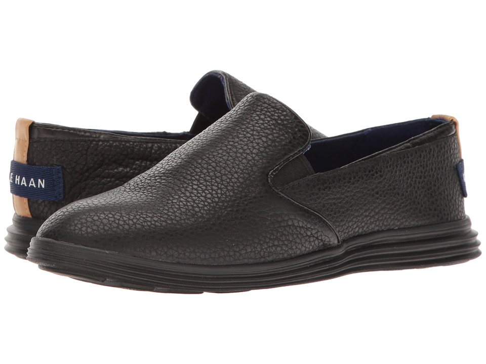 Cole Haan Ella Grand 2 Gore Slip-On (Black Leather/Black) Women
