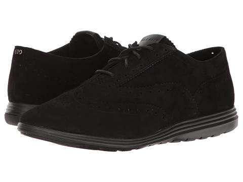 Cole Haan Grand Tour Oxford - Black Suede/Black
