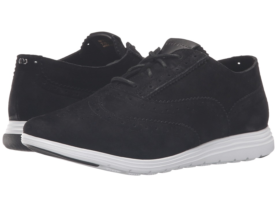 Cole Haan Grand Tour Oxford (Black Suede/Optic White) Women