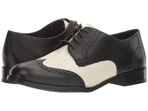 Cole Haan Jagger Wing Oxford - Black Leather/Ivory Leather