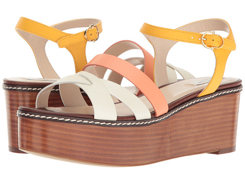 Cole Haan Jianna Wedge - Sunglow/Nectar/Ivory Leather