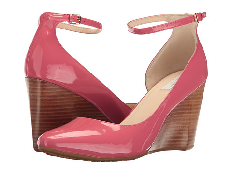 Cole Haan Lacey Ankle Strap Wedge 85mm - New Mineral Red Patent
