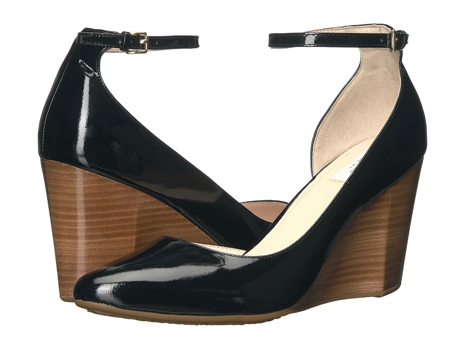Cole Haan Lacey Ankle Strap Wedge 85mm (Black Patent) Wedges