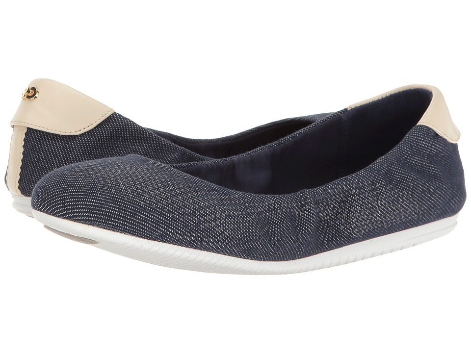 Cole Haan Studiogrand Ballet (Dark Denim/Sandshell/Optic ...