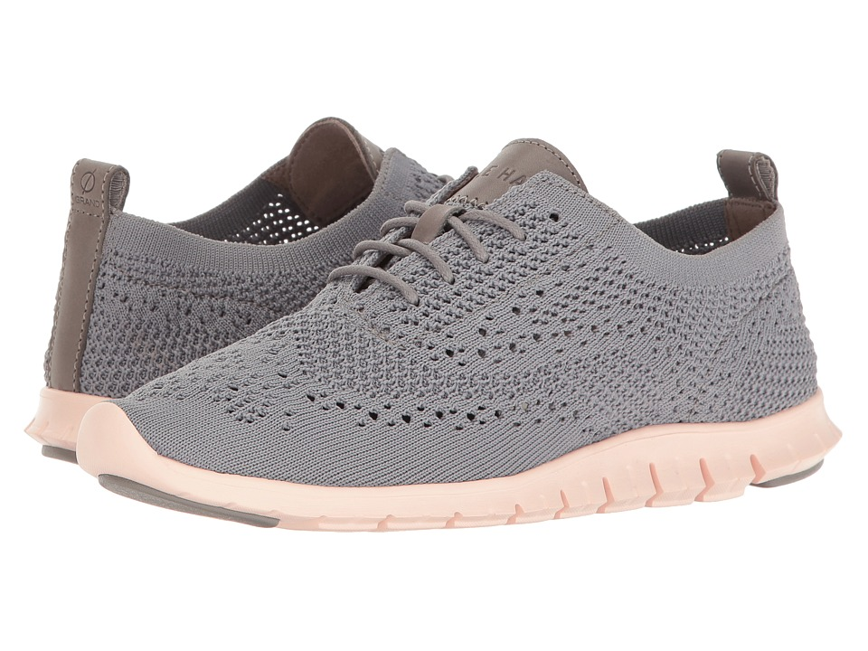 Cole Haan Zerogrand Stitchlite Oxford (Ironstone Knit/Leather/Tropical Peach)