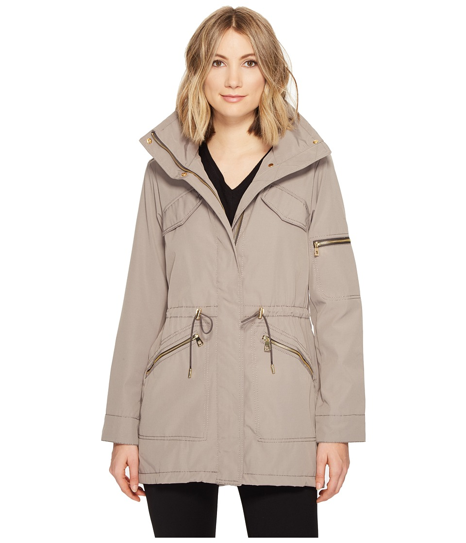 Vince Camuto Lightweight Parka with Drawstring Waist and Hem (Clay) Women's Coat