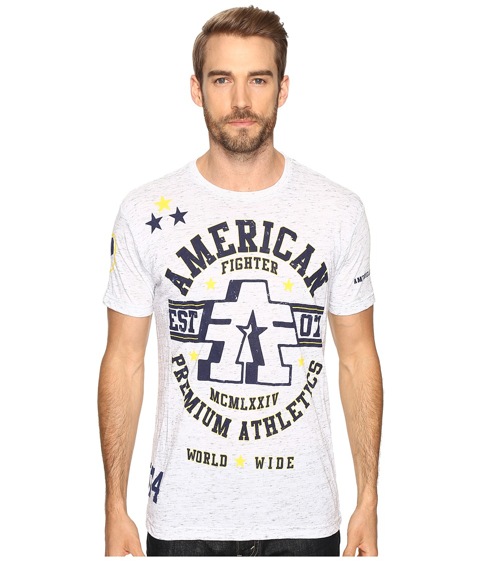 Image of American Fighter - Buena Vista Short Sleeve Tee (White/Grey) Men's T Shirt